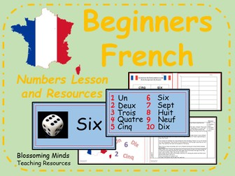 French lesson and resources - KS2 - Numbers to 10