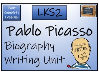 LKS2 Art - Pablo Picasso Biography Writing Activity