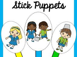 Jack And Jill Nursery Rhyme Stick Puppets