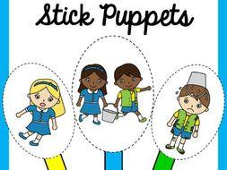 Jack And Jill Nursery Rhyme Stick Puppets