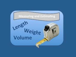 Measure and Estimate-Full lesson plan and worksheet