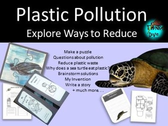 Project based learning: Plastic Pollution & Sea Turtles - Lapbook, Worksheets & Activities