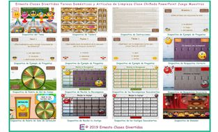 Household-Chores-and-Cleaning-Supplies-Kooky-Class-Spanish-PowerPoint-Game.pptm