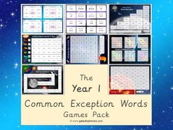 The Year 1 Common Exception Words (CEW) Games Pack
