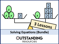 Solving Equations or Solving Linear Equations BUNDLE (3 lessons)