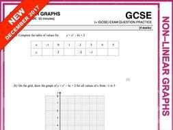 GCSE 9-1 Exam Question Practice (Non-linear Graphs)
