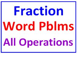 Fraction Word Problems All Operations (50 Word Problems)