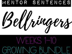 Mentor Sentences Daily Practice Bell Ringers