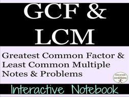 GCF and LCM: GCF and LCM Interactive Notebook Foldable