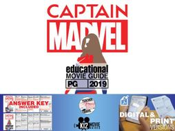 Captain Marvel Movie Guide | Questions | Worksheet (PG13 - 2019)
