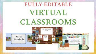 3 Fully Editable Virtual Classrooms!!