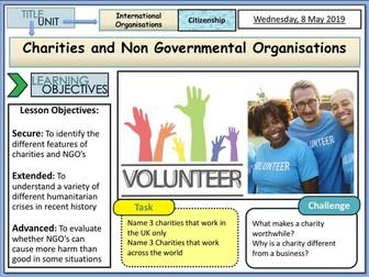 Charities and NGO 's