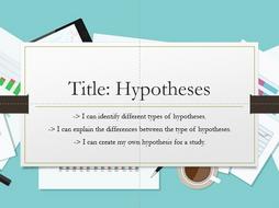 Hypotheses - Psychology OCR GCSE (9-1)