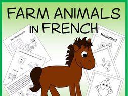 French Farm Animals Vocabulary Sheets, Printables, and Bingo Game
