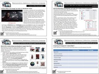 Doctor Strange GCSE Media Studies Close Study Product CSP Film