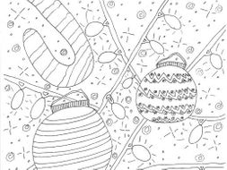 christmas candy canes and baubles colouring page