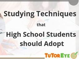 Study Guide for High School Students - TutorEye