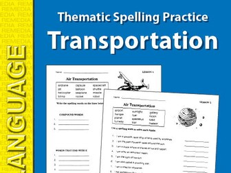 Thematic Spelling Practice: Transportation