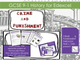 Edexcel GCSE 9-1 Crime Punishment:Lesson 23  How did prisons develop in the 19th century?