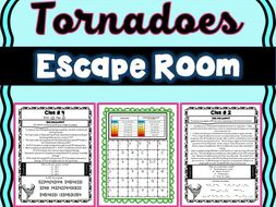 Tornadoes Escape Room! Natural Disasters - Earth Science - NO PREP, PRINT & GO!