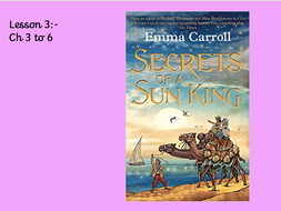 Whole class guided reading plans'Secrets of a Sun King' Emma Carroll