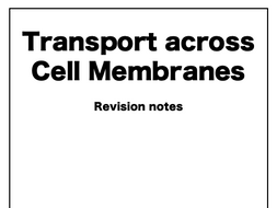 Transport across Cell Membranes AQA A-Level Biology Notes