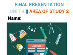 Visual Communication Design | Graphic Design |  Unit 4 | Area Of Study 2 | Planning work
