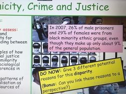 Year 13 Ethnicity and Crime