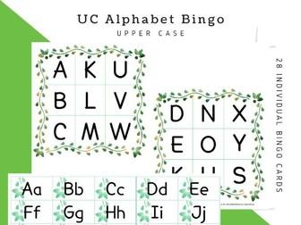 Alphabet Bingo: UPPERCASE