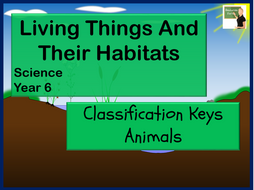 Science Living Things and Their Habitats Year 6 Classification Keys Animals