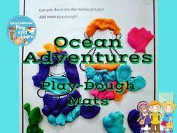 Playdough Mats Ocean Adventure