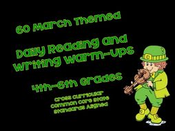 60 March Themed Daily Reading and Writing Warm-Ups 4th-6th Grades