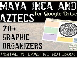 Maya Inca Aztecs 20+ Digital Interactive Notebook organizers for Google Drive
