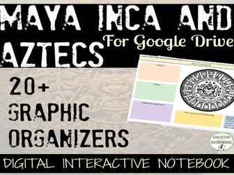 Maya Inca Aztecs 20+ Digital Interactive Notebook organizers for Google Drive