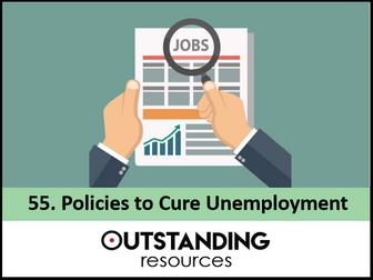 Economics: Lesson 55 - Policies to Cure Unemployment (+ Worksheet)
