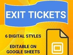6 digital exit tickets 20 printable exit tickets by rombop