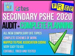 PSHE 2020 Curriculum