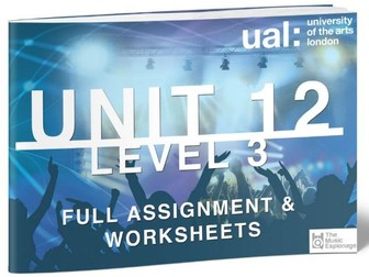 UAL-Level 3-Extended Diploma: Unit 12 - Proposal Extended Project in Music Performance and-FULL UNIT