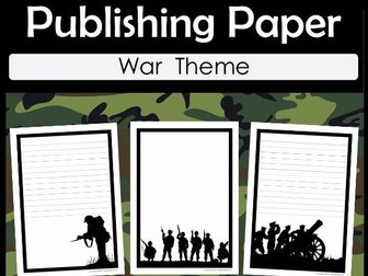 War Publishing Paper - ANZAC Day, Remembrance Day, Veterans Day, Armistice Day
