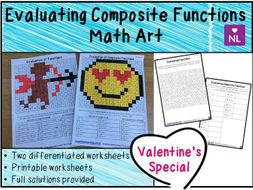 Composite Functions Valentines Worksheets