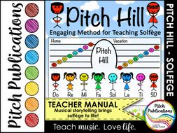 Pitch Hill: Method for Teaching Solfege - Teacher Edition + 19 Music Lessons