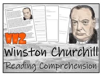 UKS2 History - Winston Churchill Reading Comprehension Activity