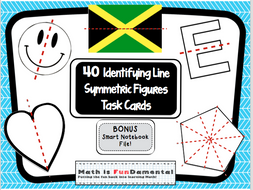 Lines of Symmetry Task Cards with BONUS Smart Notebook File 4.G.A.3