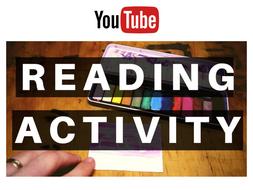 FUN READING ACTIVITY - WATERCOLOUR & WAX