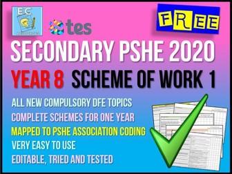Year 8 PSHE Scheme of Work 1 RSE