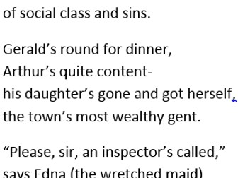 An Inspector Calls revision poem