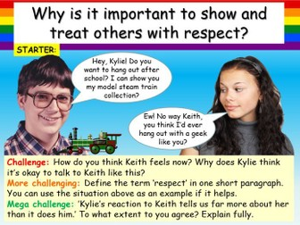 Respect , Healthy Relationships + Bullying PSHE