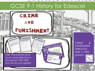 Edexcel GCSE Crime Punishment: L22 Did policing become much more effective in the period 1700-1900?