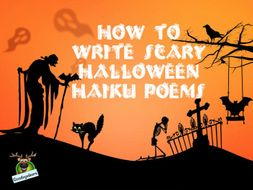 Halloween Writing Idea - Writing Scary Haiku Poems