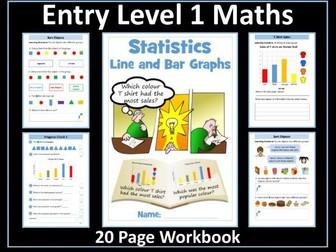 Statistics Workbook: AQA Entry Level 1 Maths